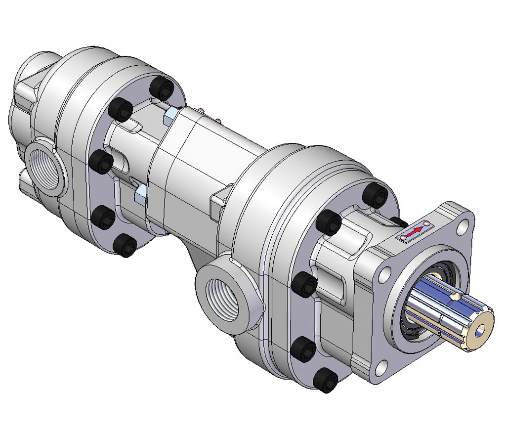 GPM 3D Drawing of a Gear Pump-5