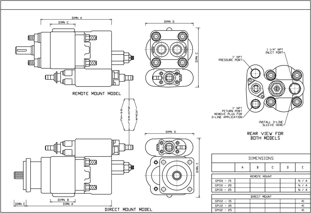 GPM Engineering Drawings of a Gear Pump-1