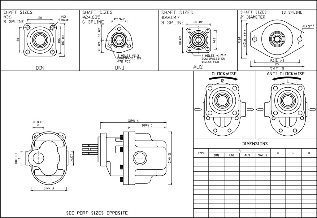 GPM Engineering Drawings of a Gear Pump-2