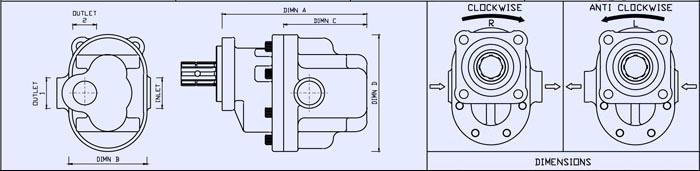 GPM Dibujo del diseño de la bomba