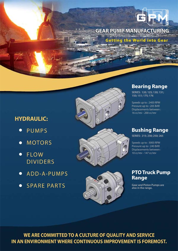 Folleto del perfil de la Gear Pumps Manufacturing