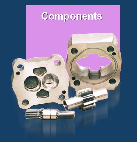 GPM Hydraulic Pump & Flow Divider Components