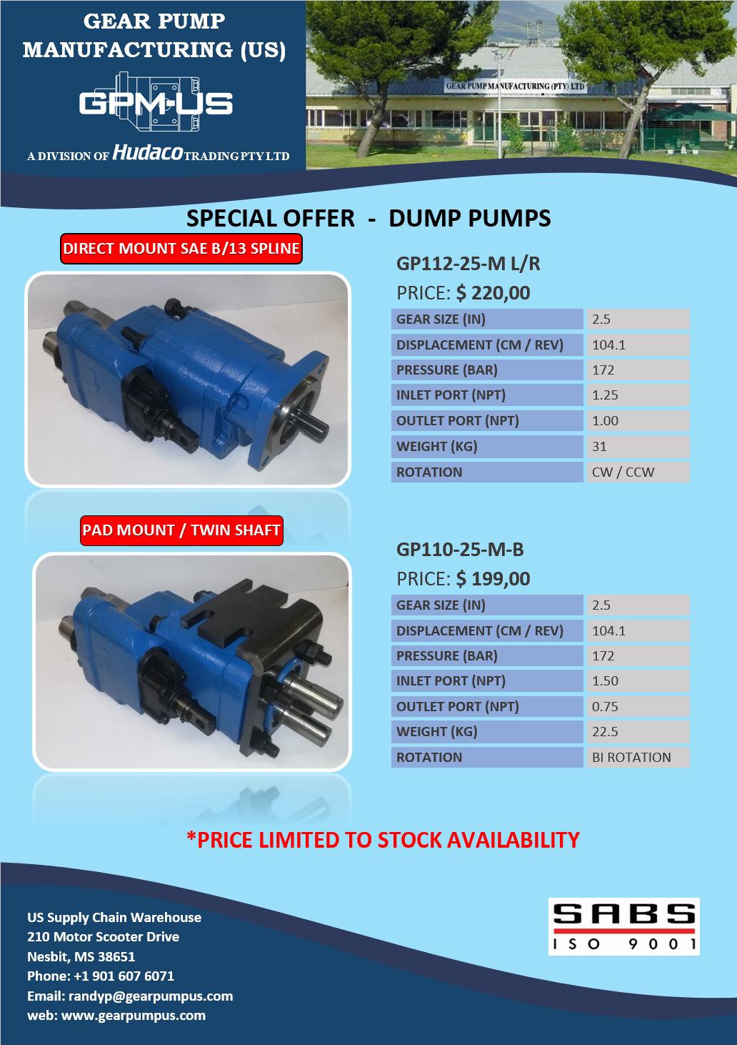 GPM-US Dump Pumps