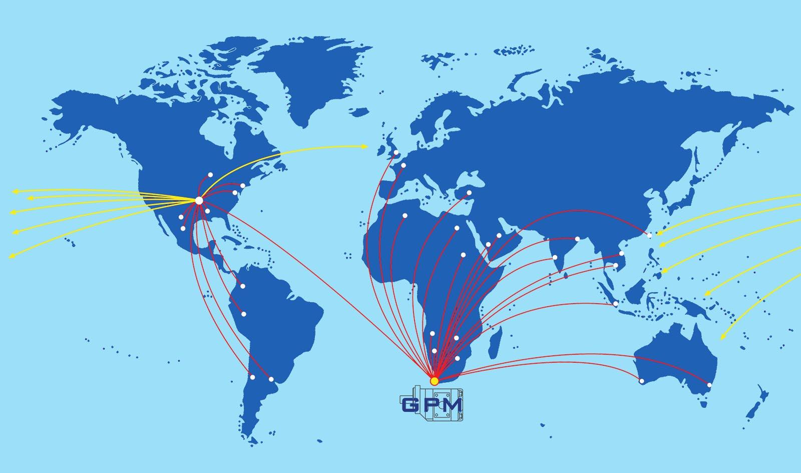 GPM Distribution Map